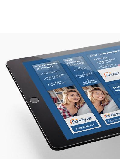 Banner-Design für Boonity - Banner-Design-Beispiel