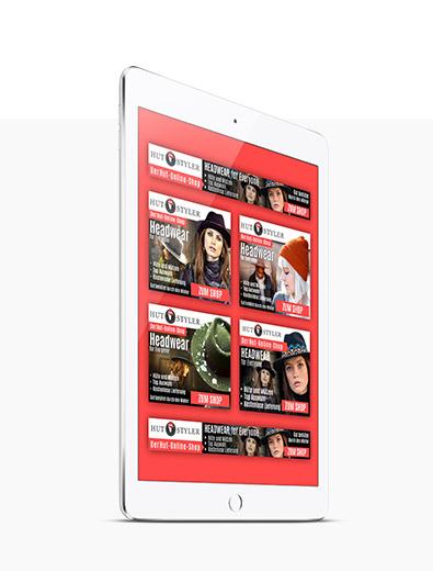 Banner-Design für Hut-Online-Shop - Banner-Design-Beispiel