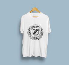 T-Shirt Design mit Gullideckel-Druck
