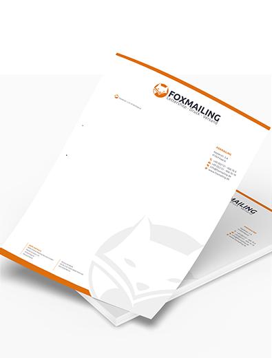 Briefpapier-Design für Werbemailing - Briefpapier-Design Beispiel