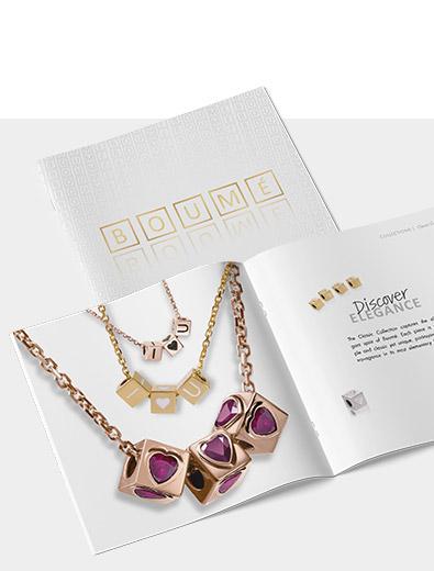 Broschüren-Design für Goldschmuck - Broschüren-Design Beispiel