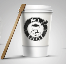Café Logo-Design für Mo's Coffee
