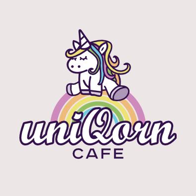 Cafe Logo für Uniqorn-Cafe - Cafe-Logo-Design Beispiel