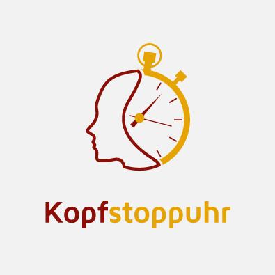 Coaching-Logo für Kopfstoppuhr -  Logo-Design Beispiel Coach