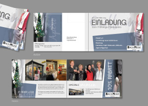 Einladungskarten-Design für eine Modeboutique