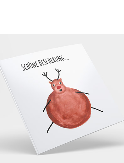 Kartendesign für Weihnachtskarte - Einladungskarten-Design Beispiel
