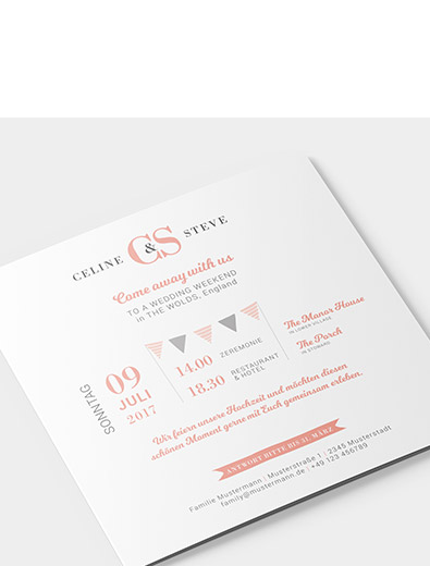 Einladungskartendesign für Hochzeit - Einladungskarten-Design Beispiel