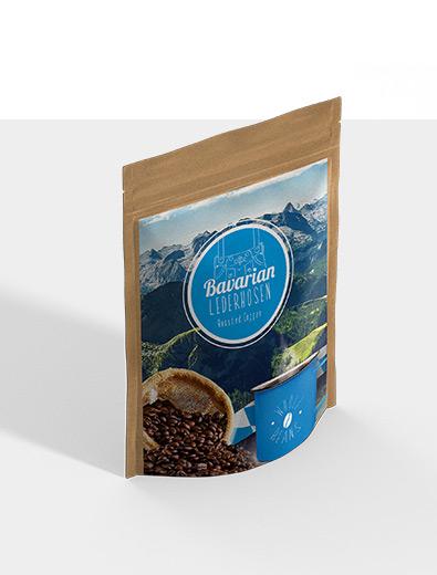 Etikettendesign für Kaffee - Etiketten-Design Beispiel