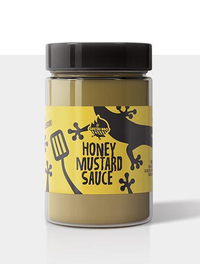 Etikettendesign für Honig-Senf-Soße - Etiketten-Design Beispiel