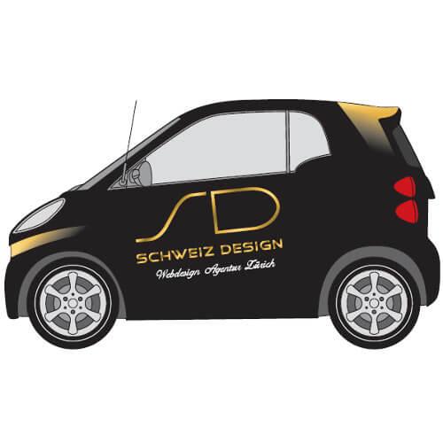 Fahrzeugbeschriftungs-Design