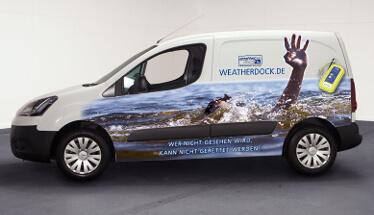 Fahrzeugbeschriftung für die Firma Weatherdock