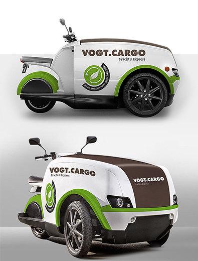 Fahrzeugbeschriftung für Logistikfirma - Fahrzeugbeschriftung-Design Beispiel