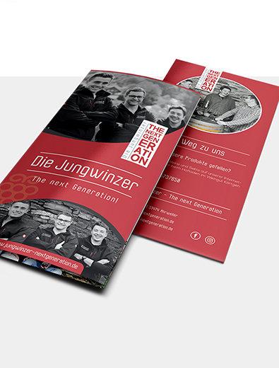 Flyer-Design für junge Winzer - Flyer-Design Beispiel