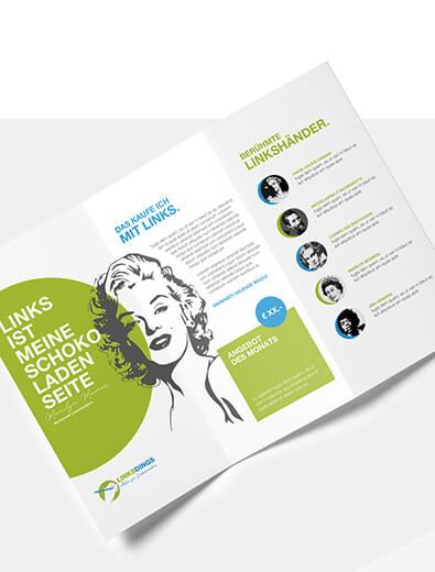 Flyer-Design für Versandhandel - Flyer-Design Beispiel