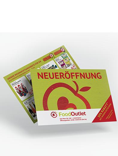 Gutschein-Design für Food-Outlet - Gutschein-Design Beispiel