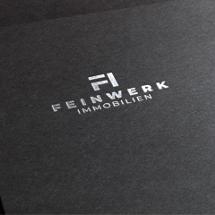 Logo-Design für Immobilienmarkler Feinwerk Immobilien