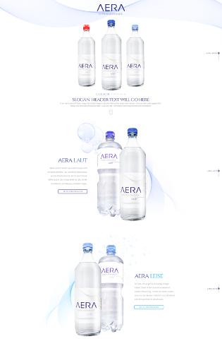 Schlichtes Landing-Page Design für Mineralwasser
