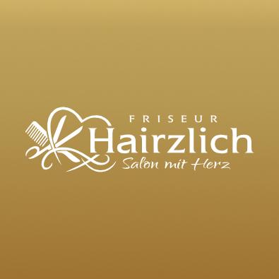 Friseur Logo für Hairzlich - Frisör Logo-Design Beispiel