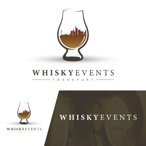 Logo in Kombination mit Social Media Designs für Veranstaltung von Whiskytastings