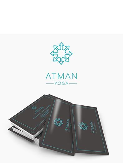 Logo und Visitenkarte für Yogastudio - Logo-Visitenkarte Design Beispiel