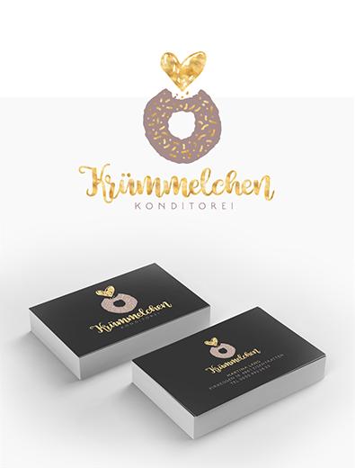 Logo und Visitenkarte für Konditorei - Logo-Visitenkarte Design Beispiel