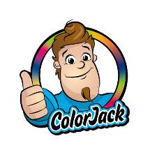 Maskottchen 'Color Jack' für ein Unternehmen für Farbfächer