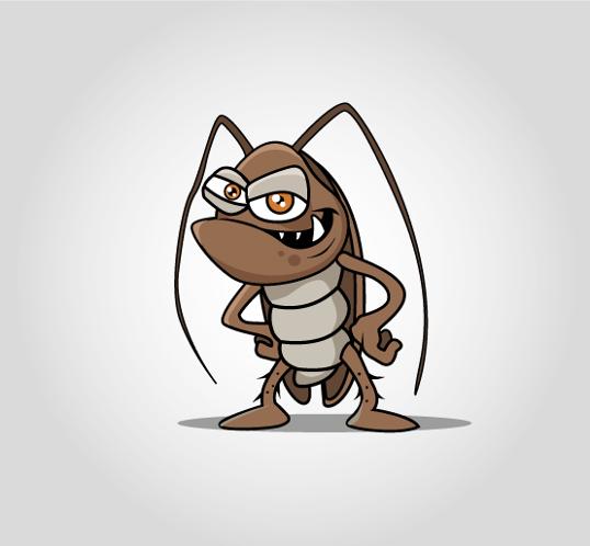 Firmenmaskottchen für Schädlingsbekämpfer