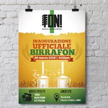 Plakat-Design für eine Brauerei aus Italien