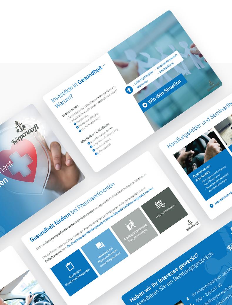 Powerpoint-Design für Körperwerft - Powerpoint Vorlagen