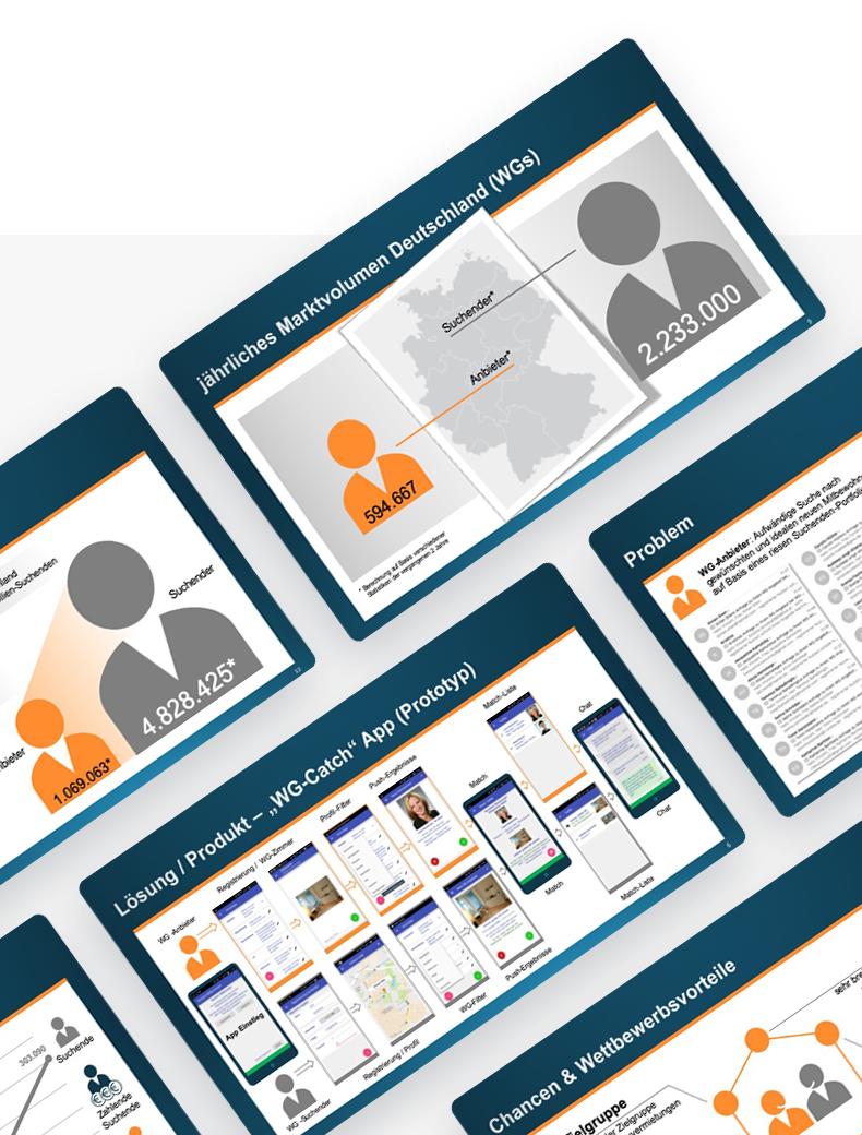 Powerpoint-Design für Design Startup - Powerpoint Vorlagen