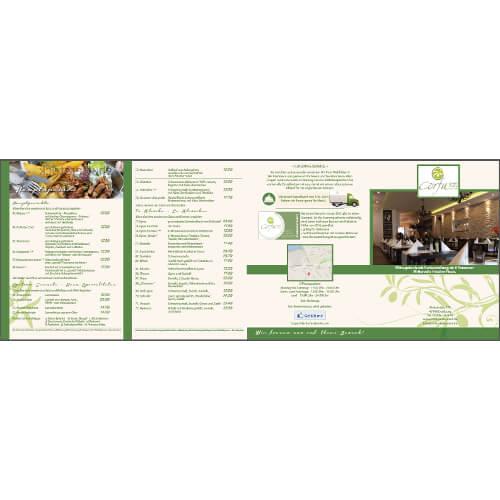 Design für Speisekarten