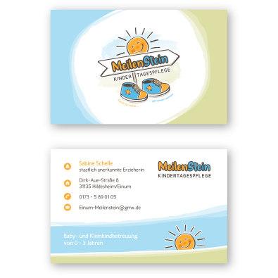 Visitenkartendesign für Kindertagespflege - Visitenkarten-Design Beispiel