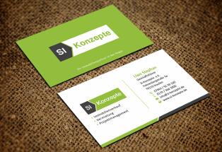Visitenkarten-Design für Immobilienprojektmanagement Si-Konzepte
