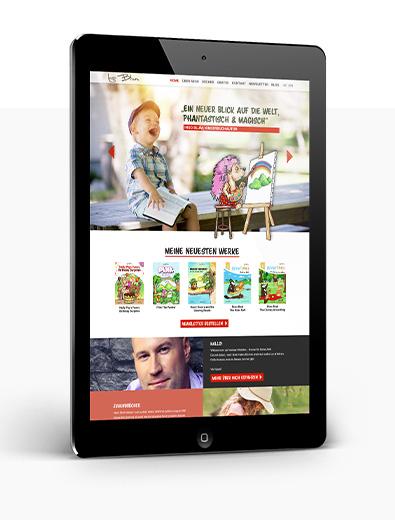 Webdesign für Kinderbuch-Autor - Web-Design Beispiel