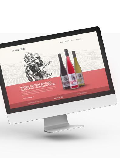 Webdesign für Weinmarke - Web-Design Beispiel