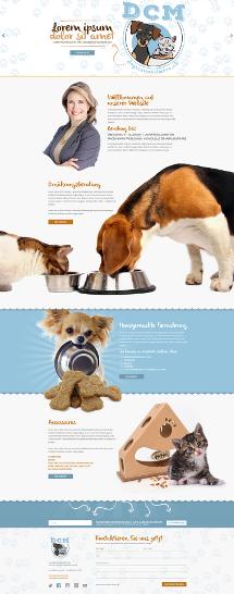 Webdesign für Hunde- und Katzenernährungsberatung