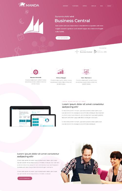 Webdesign für Vertrieb und Verkauf von Microsoft Produkten
