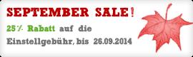 September Sale!