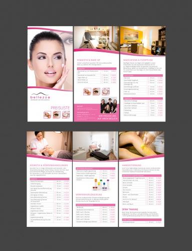 690bac6e8e8460 Flyer-Design für Kosmetikstudio (Preisliste) » Flyer-Design ...