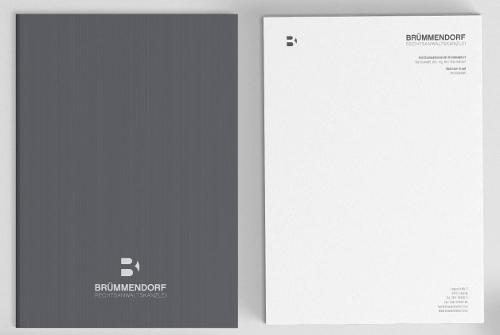 Seriöser Briefkopf Für Rechtsanwaltskanzlei Visitenkarten Design