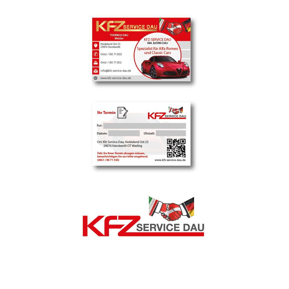 Visitenkarten Design Für Kfz Werkstatt Visitenkarten