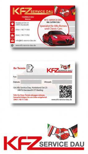 Visitenkarten-Design für Kfz-Werkstatt