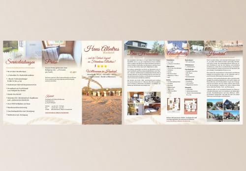 Flyer-Design für Ferienhaus