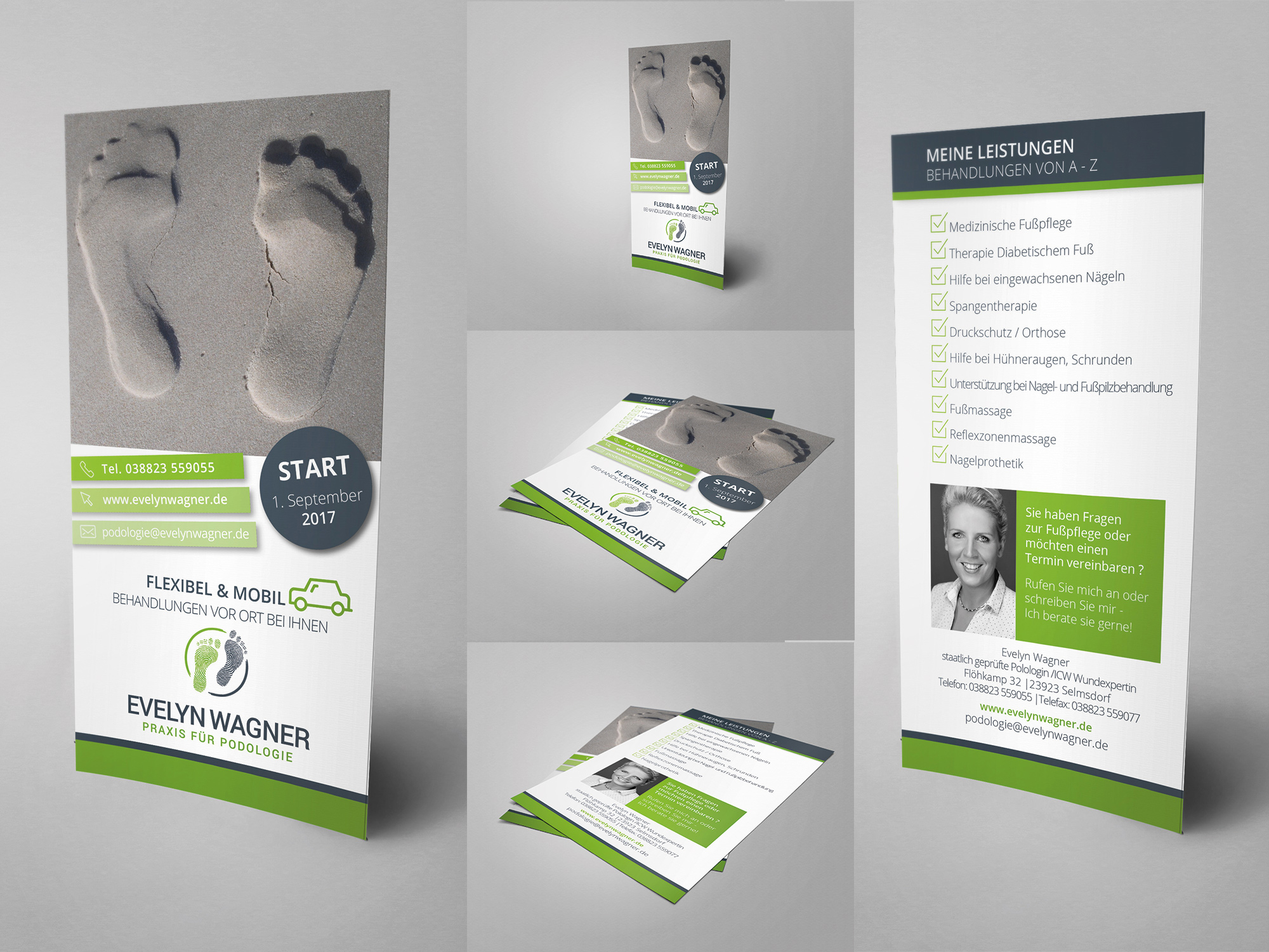 Flyer Design Für Medizinische Fußpflege Flyer Design